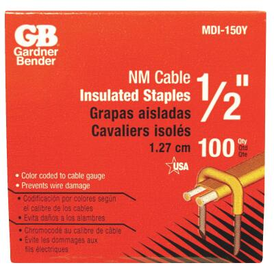 Gardner Bender 1 In. x 1/2 In. Carbon Steel Cable Staple (100-Count)