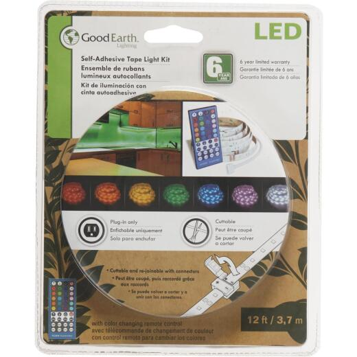 Good Earth Lighting 12 Ft. L. Plug-In Color Changing LED Under Cabinet Tape Light with Remote Control