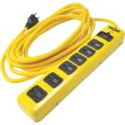 Yellow Jacket 6-Outlet 1050J Hi-Vis Yellow Surge Protector Strip with 15 Ft. Cord Image 1
