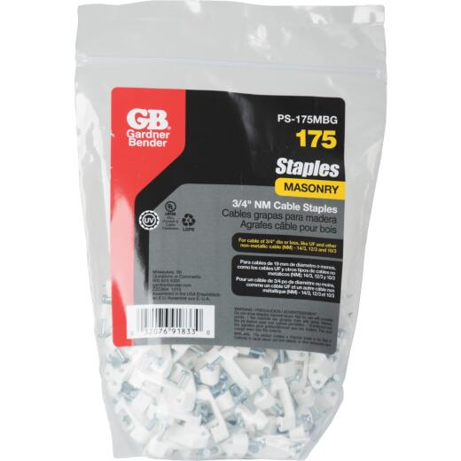 Gardner Bender 3/4 In. Polyethylene Cable Staple (175-Count)