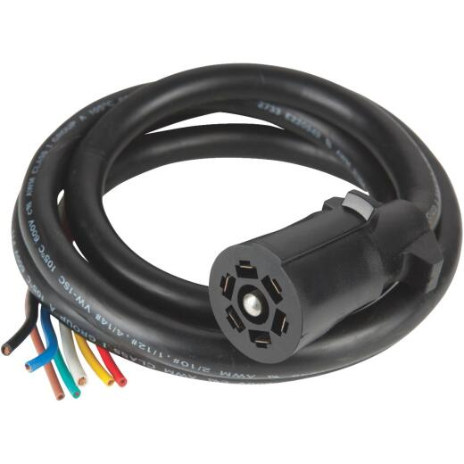 Reese Towpower Professional 7-Blade 6 Ft. Molded Cable Trailer Side Connector