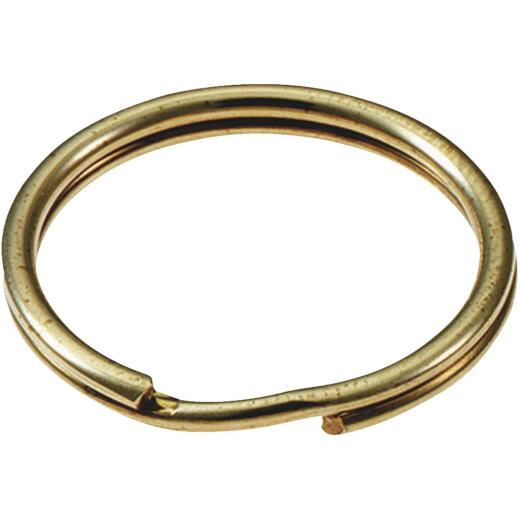 Lucky Line Steel Brass-Plated 1-1/8 In. Key Ring