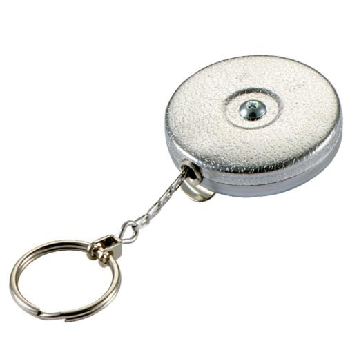 Lucky Line Key Bak Clip-On 24 In. Chrome Retractable Key Chain