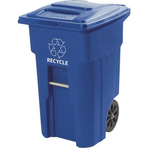 Toter 48 Gal. Recycling Trash Can with Lid