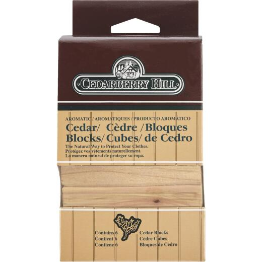 Cedarberry Hill Aromatic Cedar 3 In. W. x 2.125 In. H. x .69 In. D. Cedar Blocks (6-Pack)