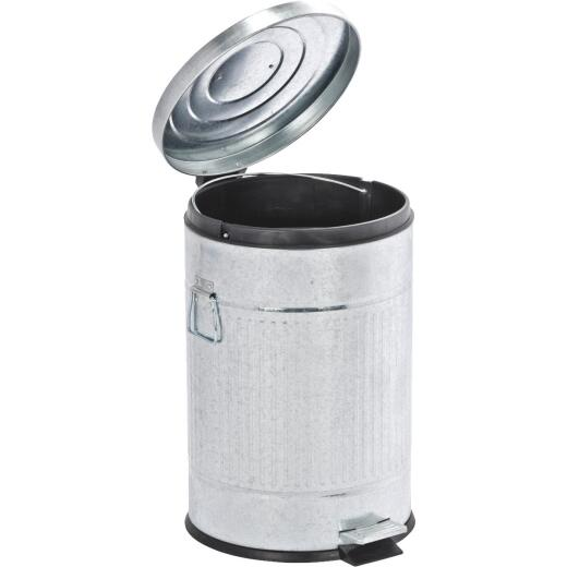 Wenko 20 Liter Steel Trash Can with Lid