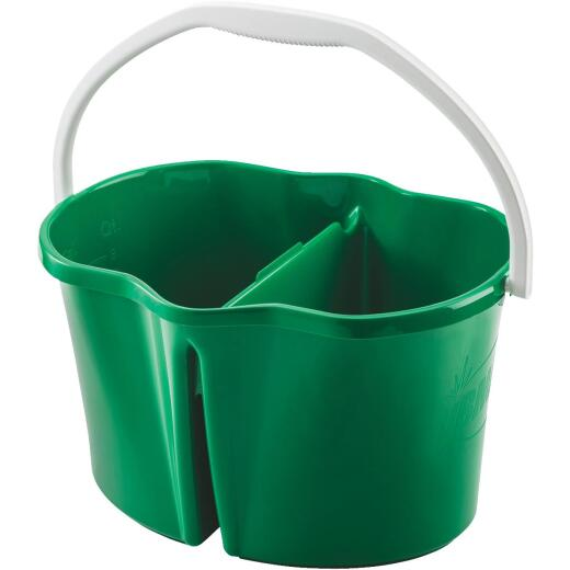 Libman Clean & Rinse 4 Gal. Green Divided Bucket