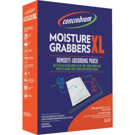 Concrobium 35.3 Moisture Grabbers XL Humidity Absorbing Pouch For Large Areas (1-Pack)