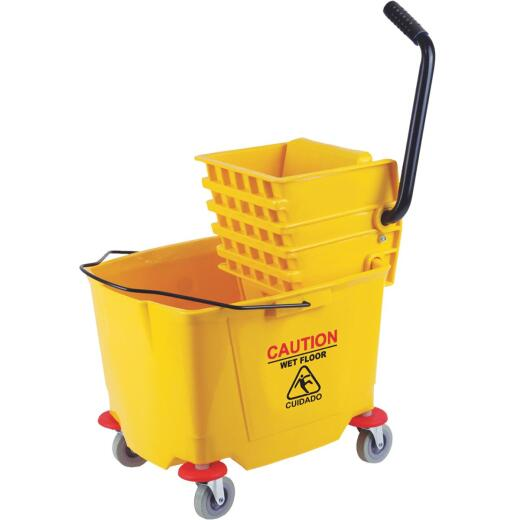 38 Qt. Down Press PVC Mop Bucket & Wringer