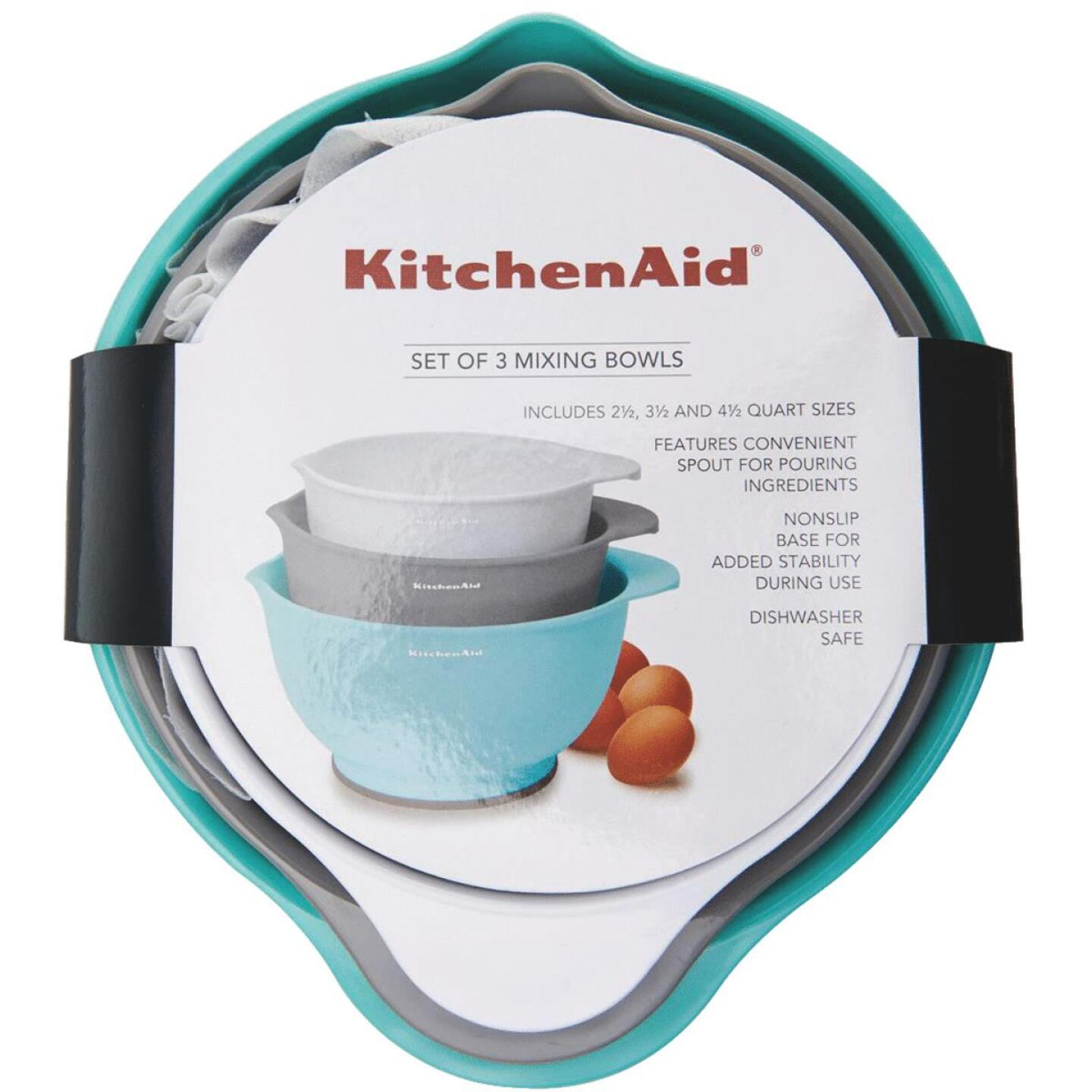KitchenAid Plastic Mixing Bowls (3 Piece) Image 1