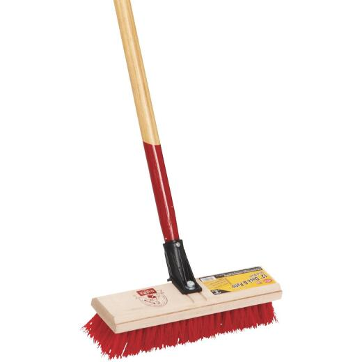 Harper 12 In. Deck Scrub Brush with 60 In. Handle