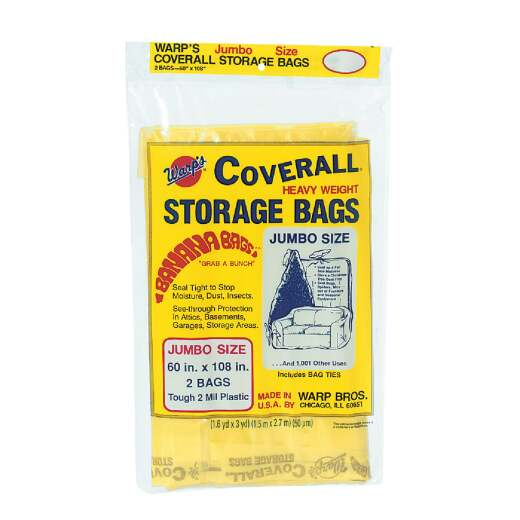 Warp's Coverall 60 In. x 108 In. Heavyweight Storage Bag (2-Count)