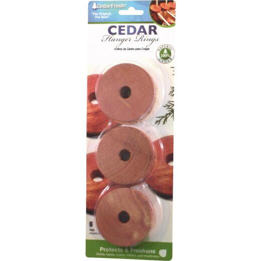 Cedar Fresh .375 In. H. x 2 In. Dia. Cedar Hanger Rings (6-Pack)