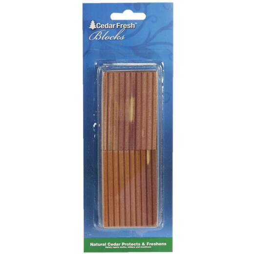Cedar Fresh Cedar Wood 2 In. W. x 0.275 In. H. x 0.5 In. D. Cedar Blocks (4-Pack)