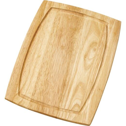 Farberware 8 In. x 10 In. Curved Wood Cutting Board