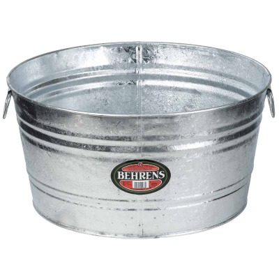 Behrens 17 Gal. Round Hot-Dipped Utility Tub