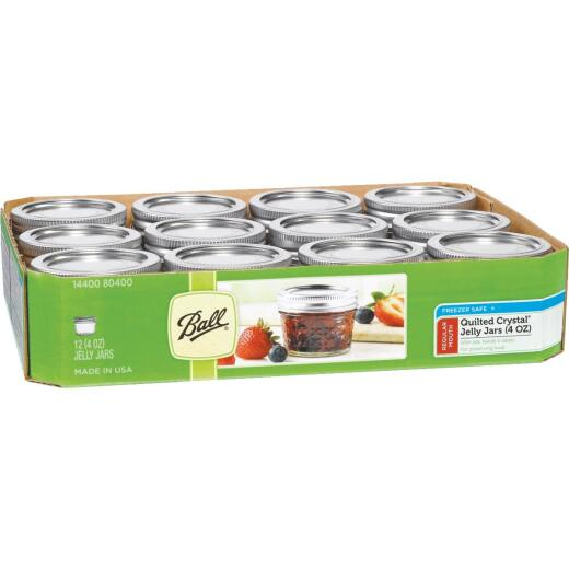 Ball 4 Oz. Glass Jam or Jelly Jar, (12-Pack)