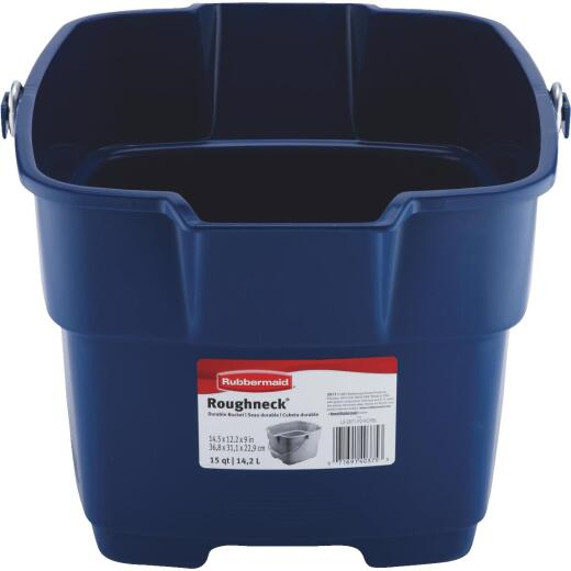 Rubbermaid Roughneck 15 Qt. Blue Bucket