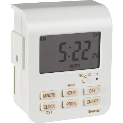 Woods 125V Indoor Digital Heavy-Duty Timer