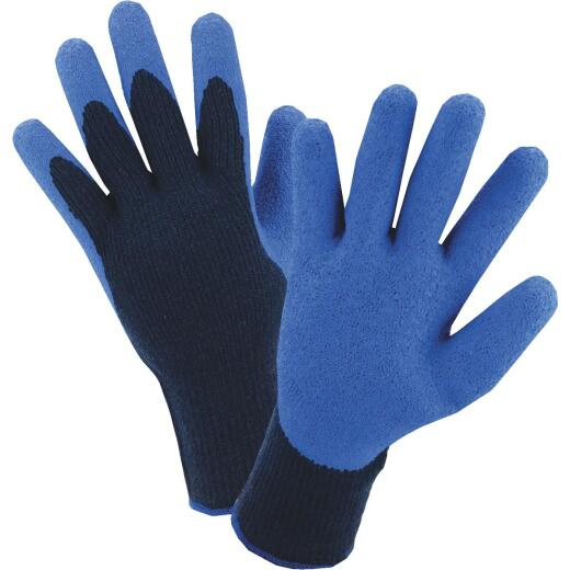 West Chester Men's XL Latex Coated Polyester Winter Glove