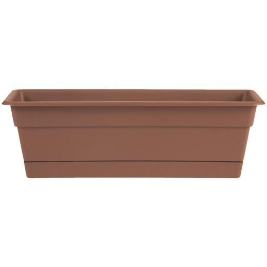 Bloem Dura Cotta 30 In. Plastic Terra Cotta Flower Box