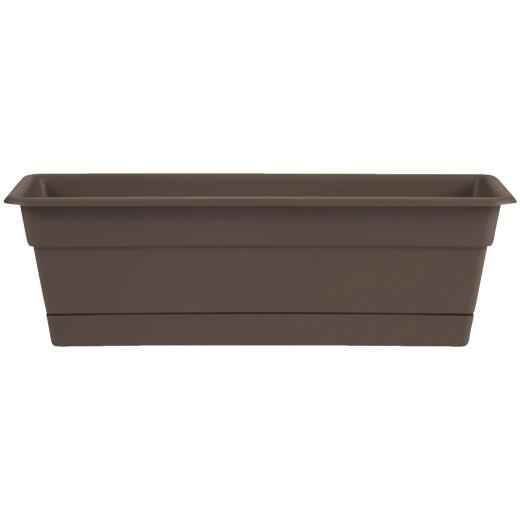 Bloem Dura Cotta 24 In. Plastic Chocolate Flower Box