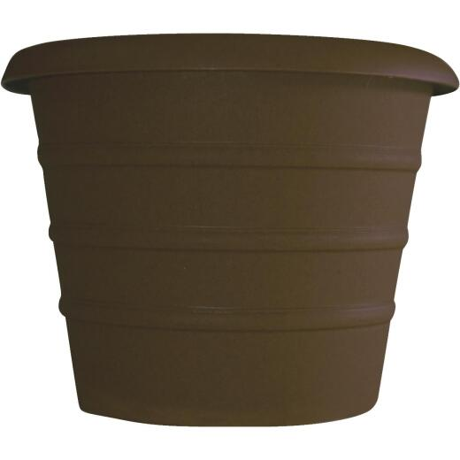 Myers Marina 12 In. Dia. Chocolate Poly Flower Pot