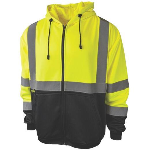 Radians Rad Wear ANSI Class 3 Hi Vis Green Safety Sweatshirt XL
