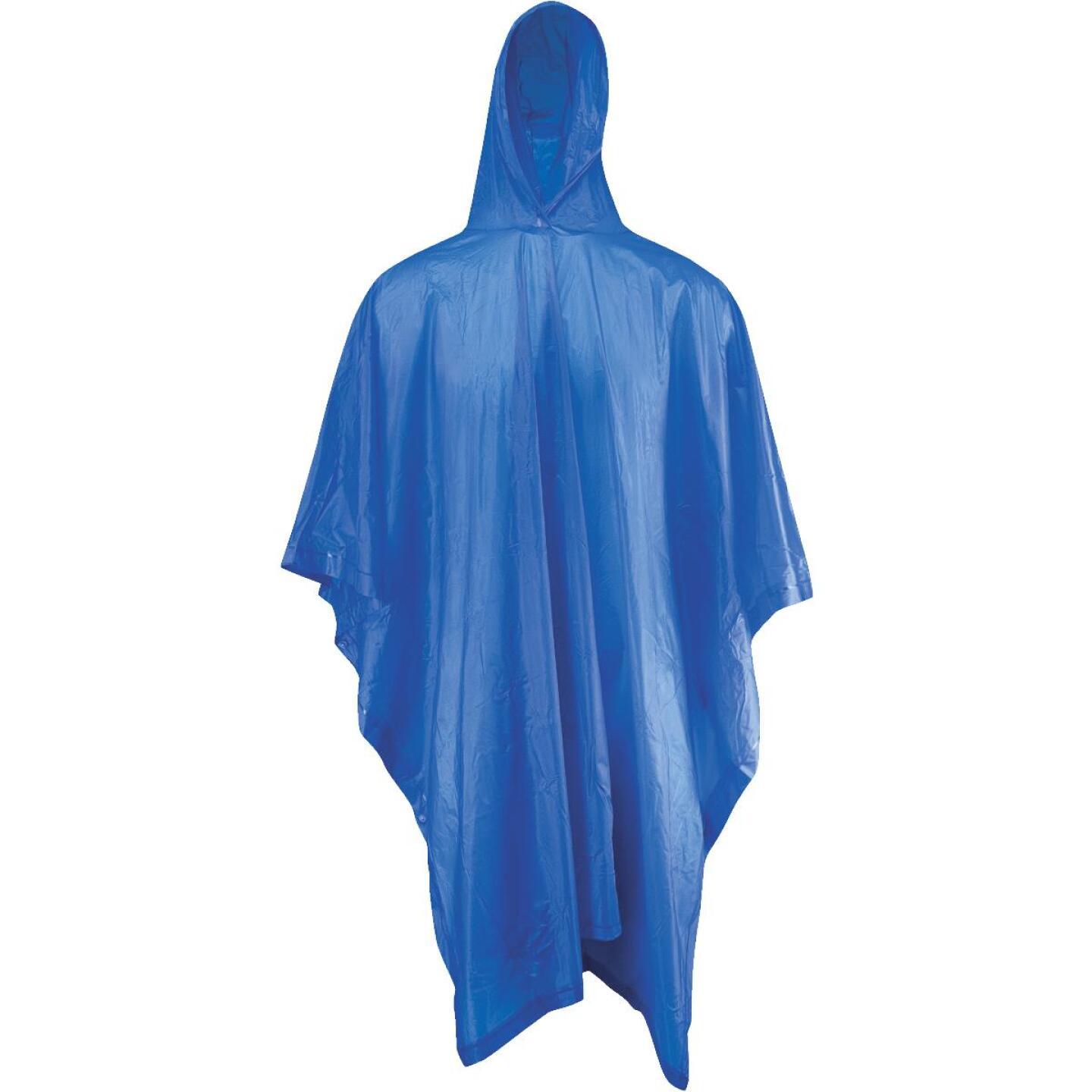 West Chester 50 In. x 80 In. Blue Rain Poncho Image 1