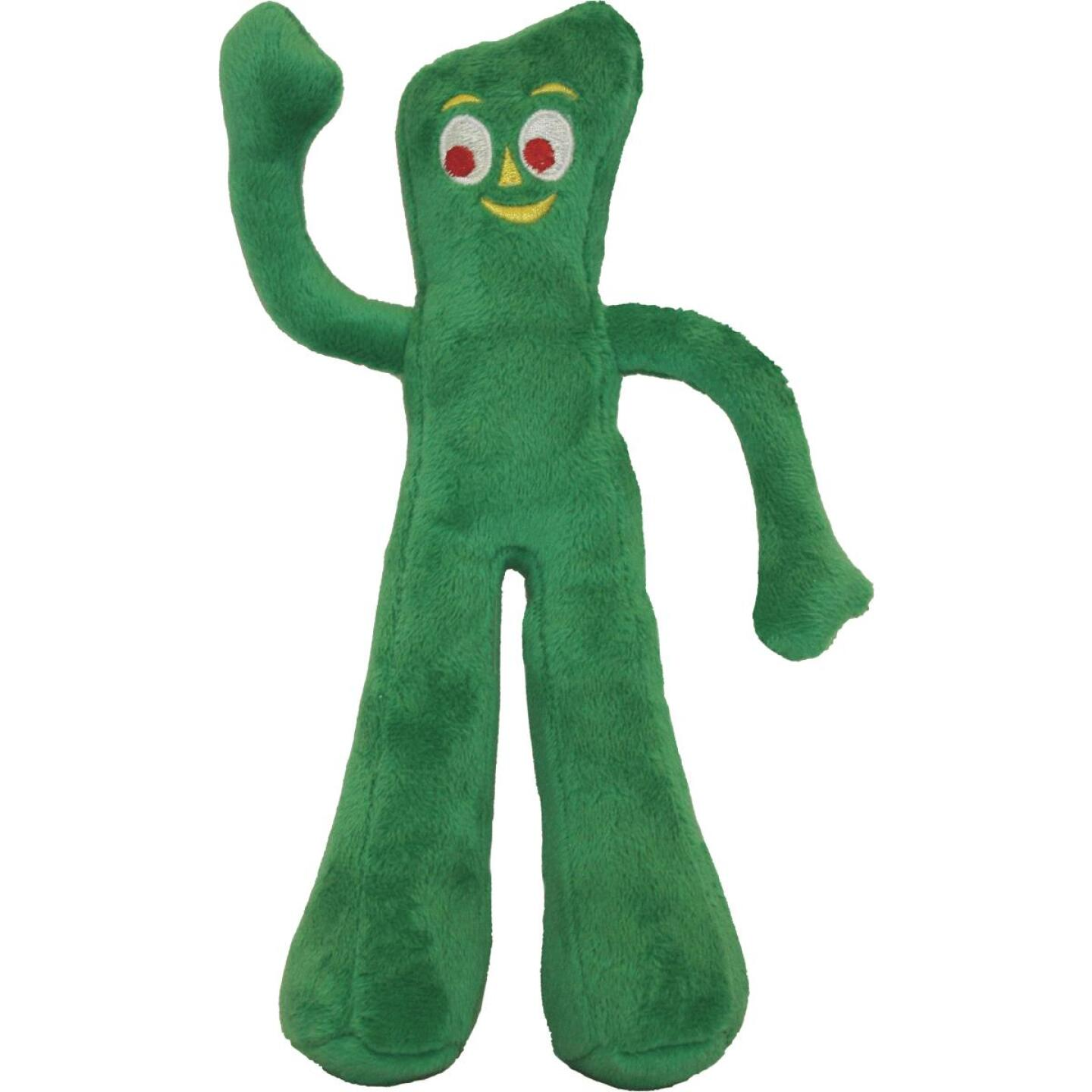 Multipet 9 In. Gumby Squeaky Plush Dog Toy Image 1