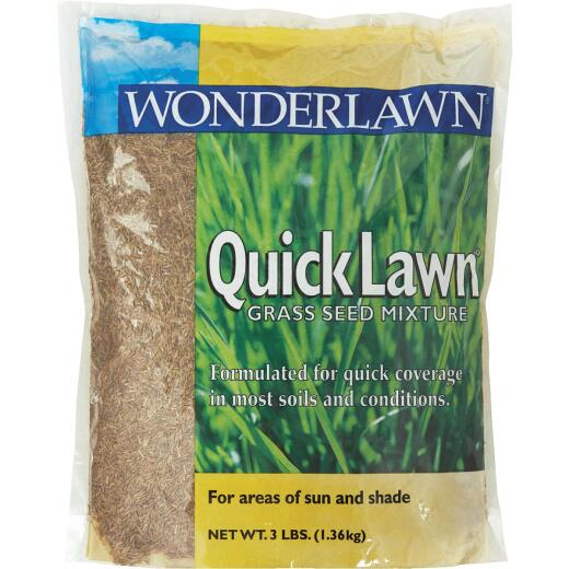 Wonderlawn Quick Lawn 3 Lb. 900 Sq. Ft. Coverage Annual & Perennial Ryegrass Grass Seed