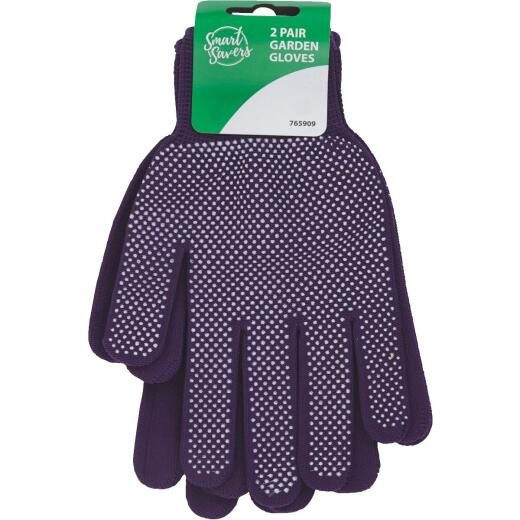 Smart Savers 1 Size Fits All Cotton Garden Glove (2-Pack)
