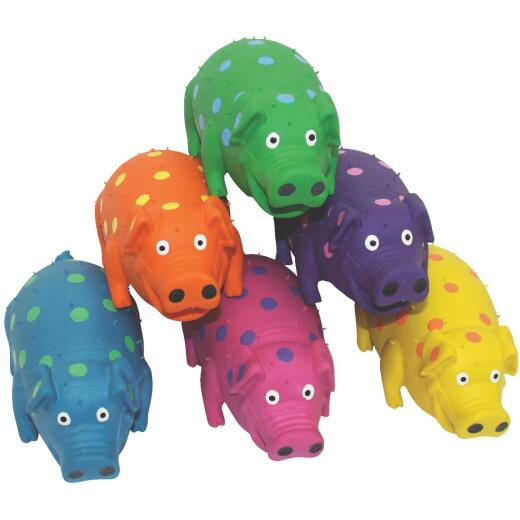 Multipet Globlets 9 In. Squeaky Pig Dog Toy