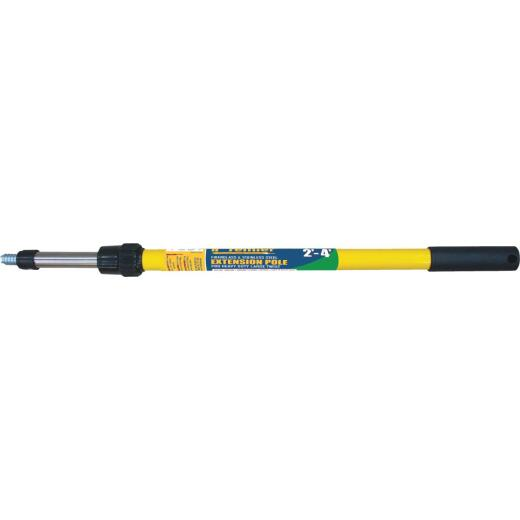 Premier 2 Ft. To 4 Ft. Telescoping Fiberglass & Stainless Steel External Twist Extension Pole