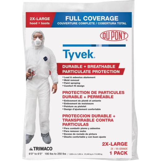 Dupont Tyvek 2XL Hooded Reusable Painter's Coveralls