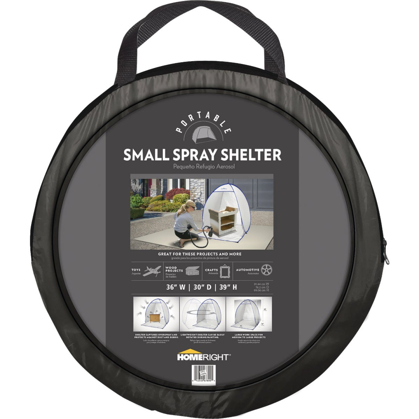 HomeRight 35 In. W. x 39 In. H. x 30 In. D. Small Portable Spray Shelter Image 5