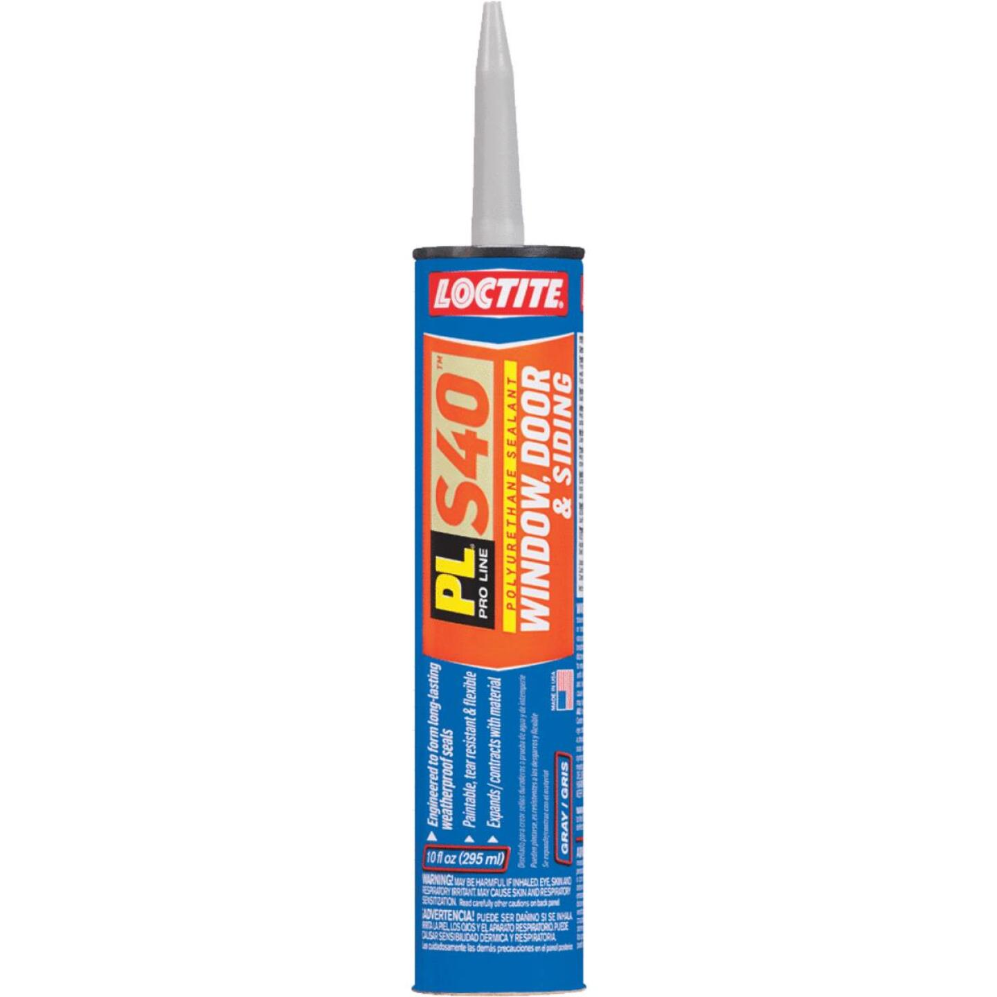 LOCTITE PL S40 10 Oz. Polyurethane Window, Door, & Siding Sealant, Gray Image 1