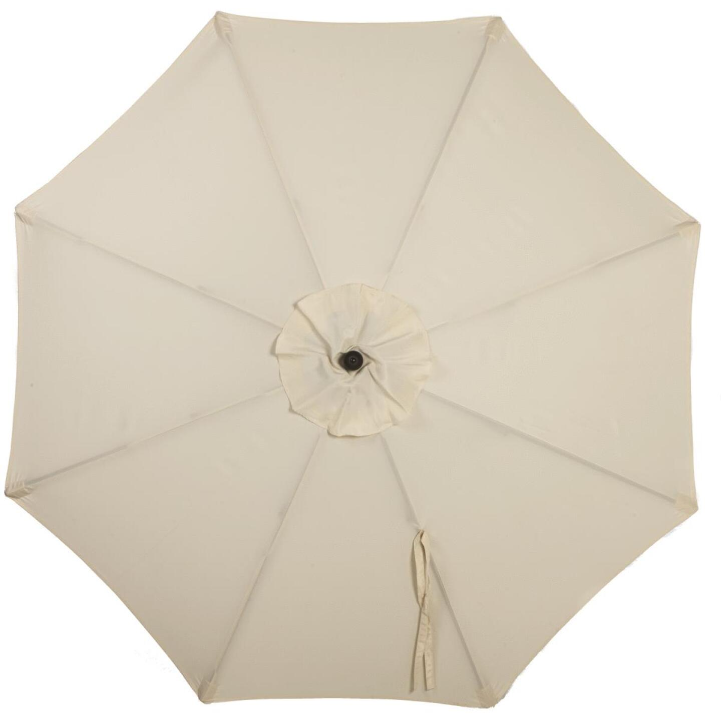 Outdoor Expressions 7.5 Ft. Pulley Cream Market Patio Umbrella with Chrome Plated Hardware Image 3