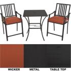 Nantucket 3-Piece Bistro Set with Seat Cushions Image 1
