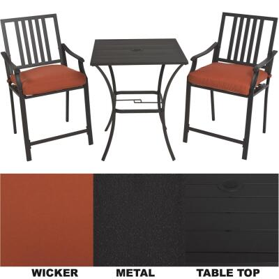 Nantucket 3-Piece Bistro Set with Seat Cushions