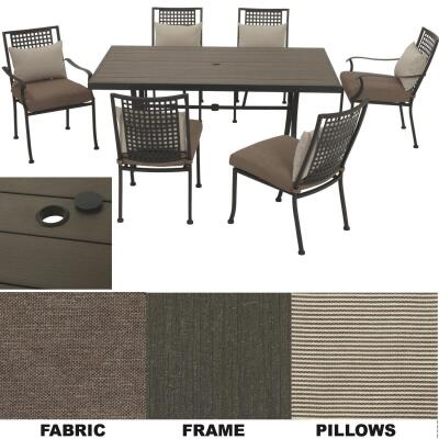 Palazzo 7-Piece Dining Set with Cushions