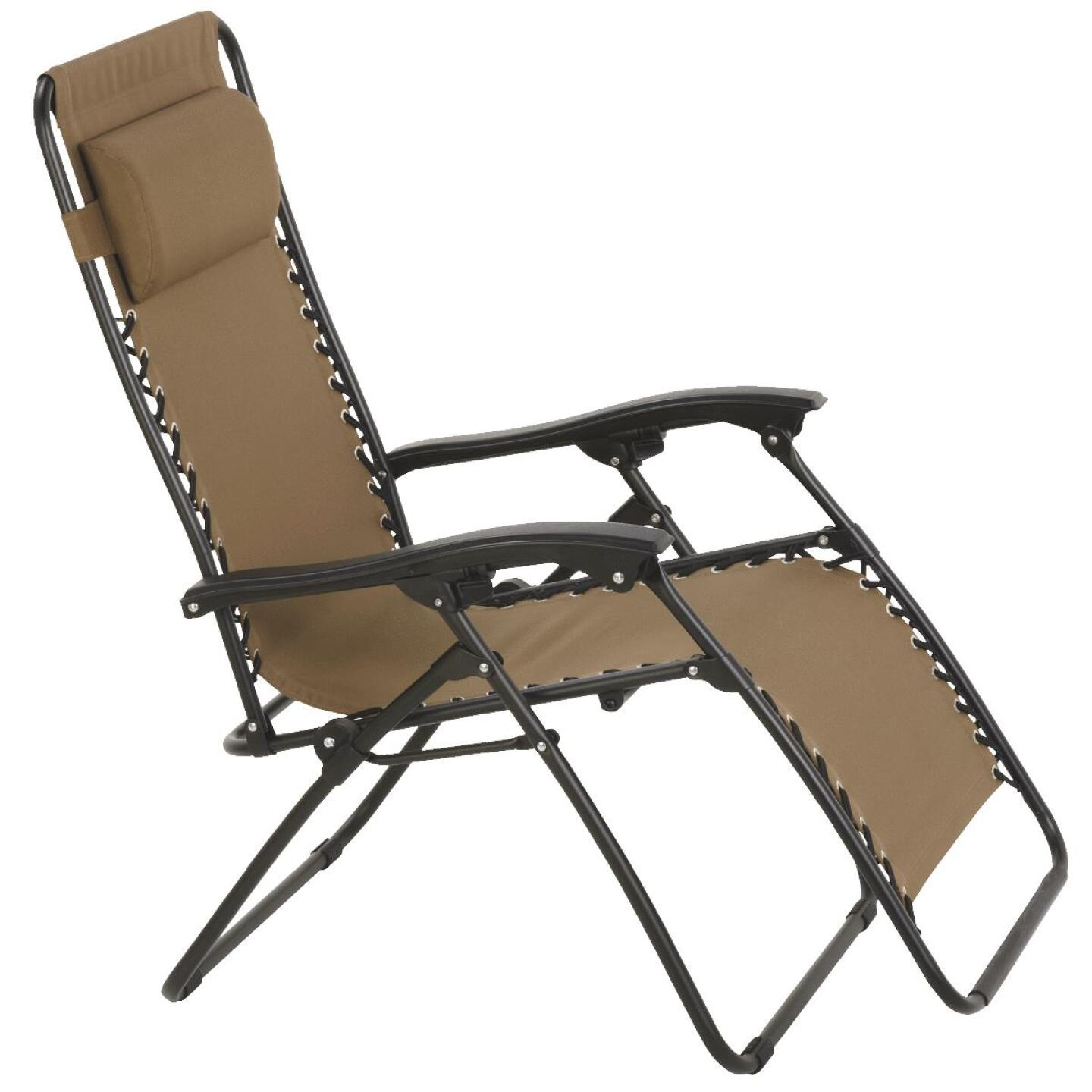 Outdoor Expressions Zero Gravity Relaxer Tan Convertible Lounge Chair Image 1
