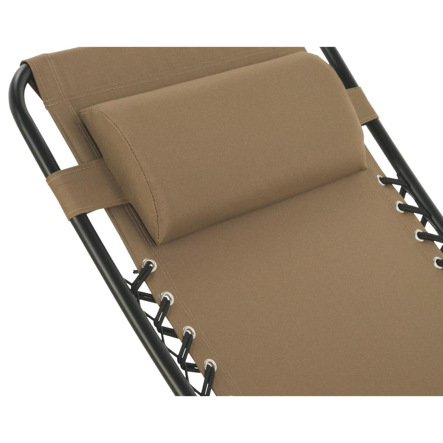 Outdoor Expressions Zero Gravity Relaxer Tan Convertible Lounge Chair Image 7