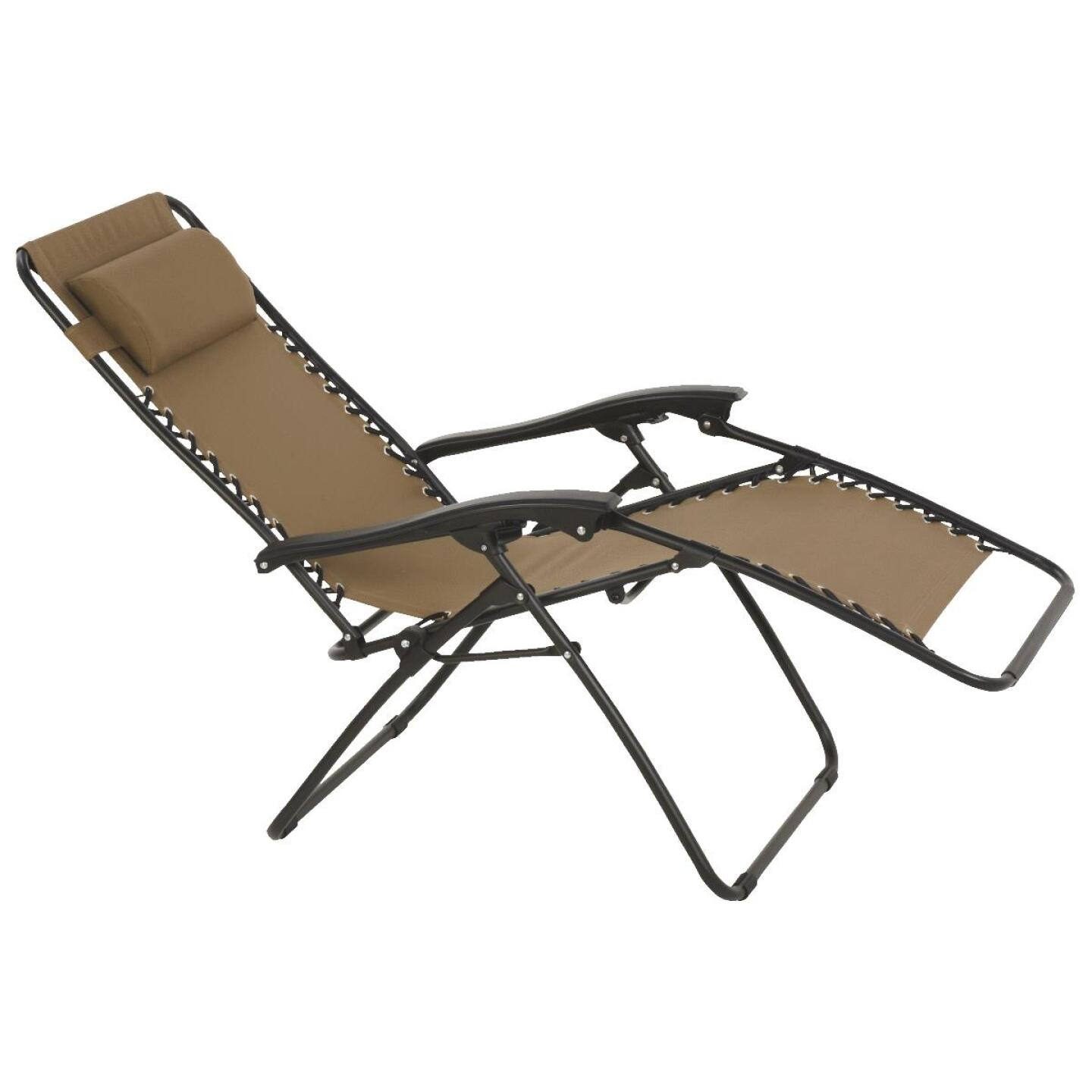 Outdoor Expressions Zero Gravity Relaxer Tan Convertible Lounge Chair Image 10