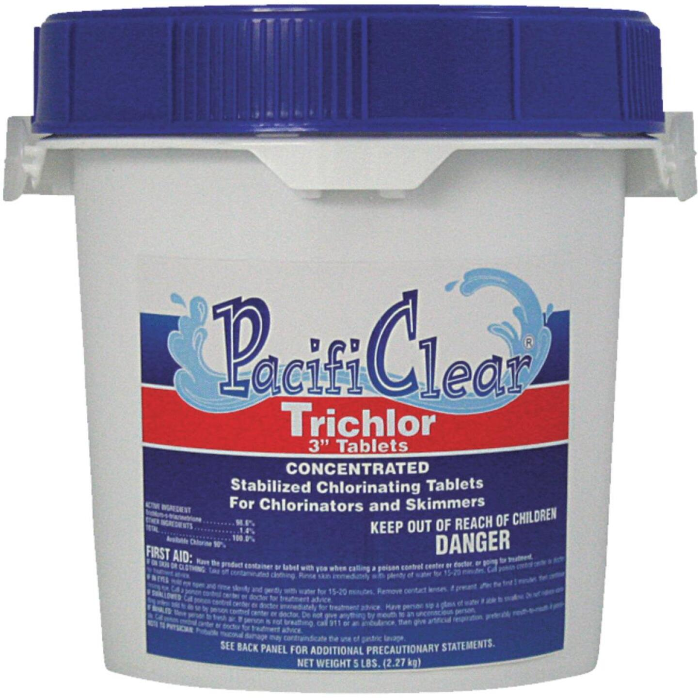 PacifiClear 3 In. 5 Lb. Trichlor Chlorine Tablet Image 1