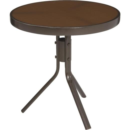 Jack Post Country Garden Bronze 19.75 In. Dia. Round Steel Side Table