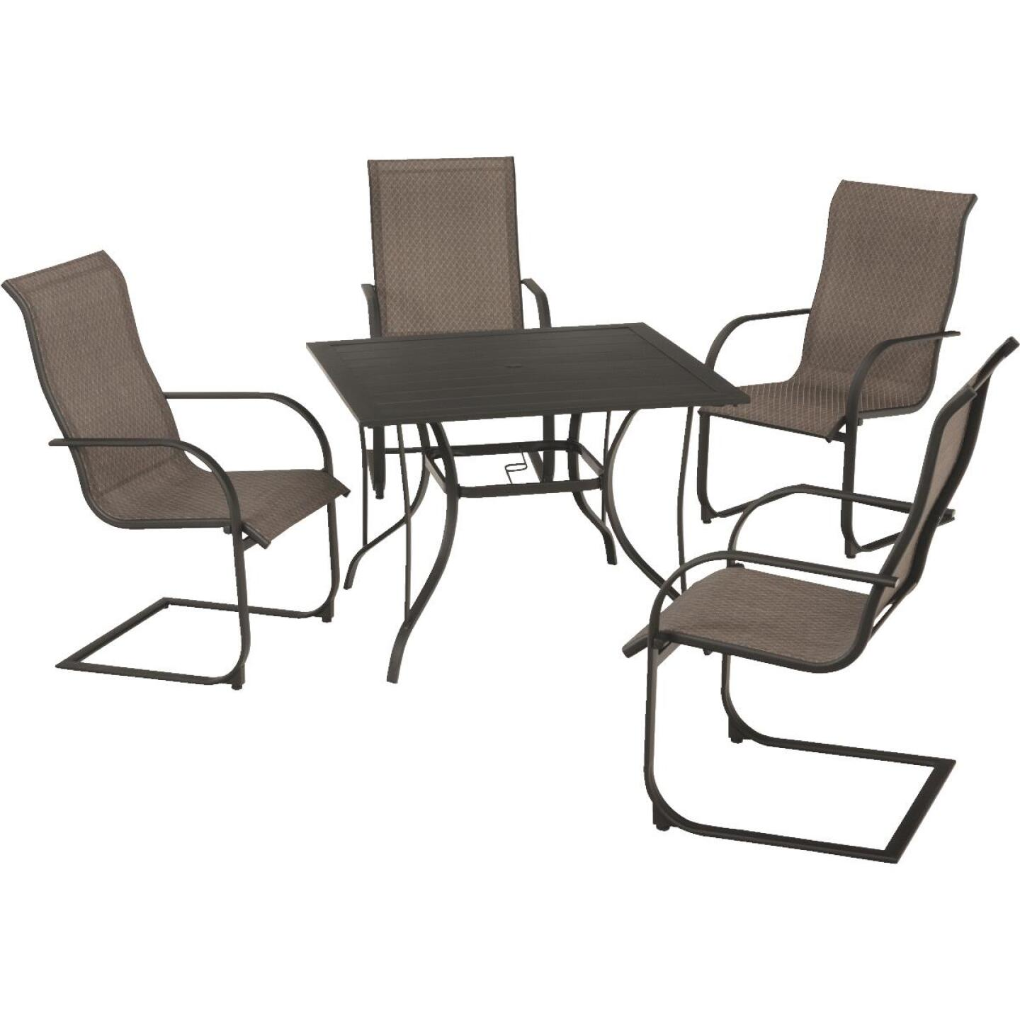 Outdoor Expressions Springfield 5-Piece Spring Chair Dining Set Image 2