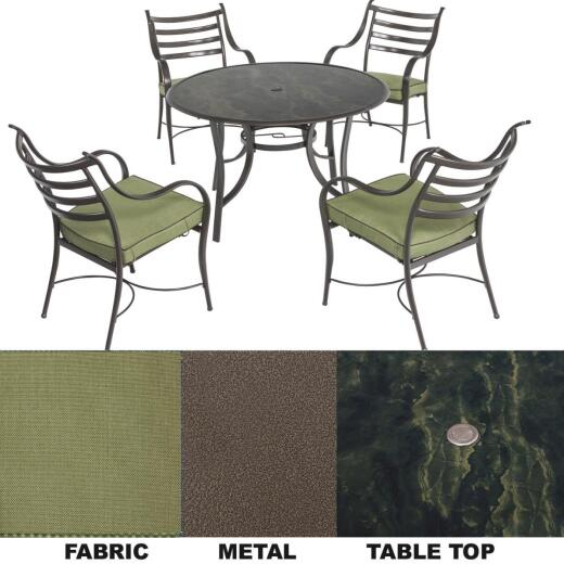 Outdoor Expressions South Beach 5-Piece Dining Set with Cushions