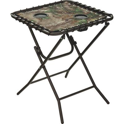 Outdoor Expressions Real Tree 18 In. Square Steel Folding Side Table