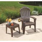 Adams Big Easy Earth Brown 18.9 In. Square Resin Stackable Side Table Image 2